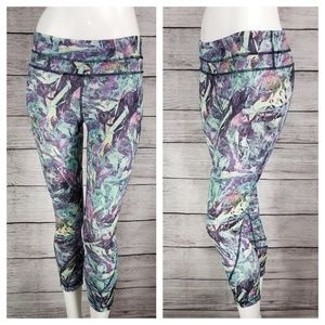 Lululemon 4 Run Inspire Crop II Iridescent Multi